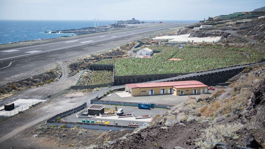 'Punto limpio' situado en Breña Baja, en la cabecera del Aeropuerto.