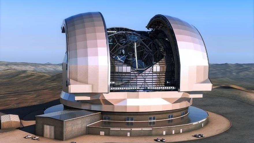 Recreación del Telescopio Extremadamente Grande  (ESO/L. CALÇADA)