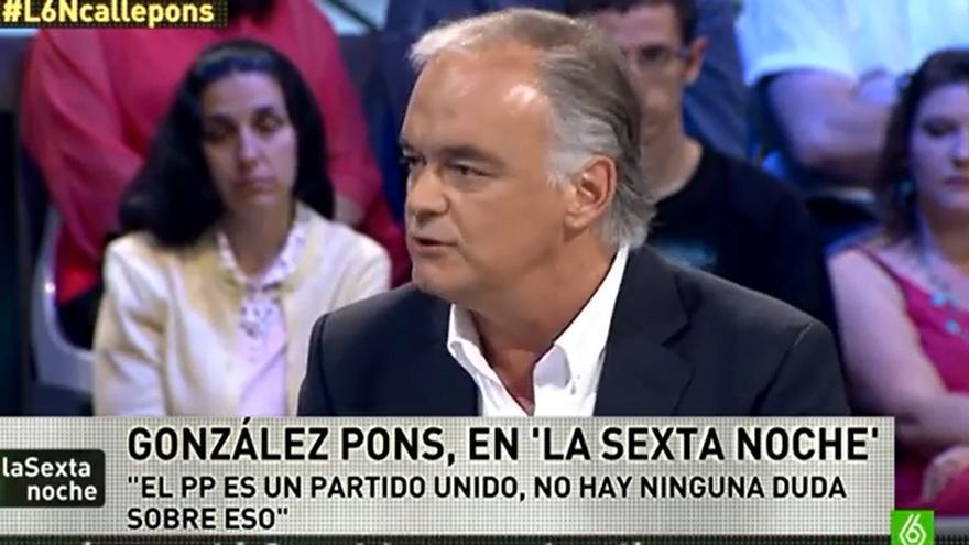 El eurodiputado popular valenciano Esteban González Pons en 'La Sexta Noche'