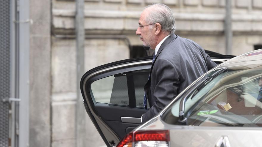 Rodrigo Rato, a su llegada a la Audiencia Nacional para declarar como imputado por las tarjetas 'black'. / GDG \ G3ONLINE