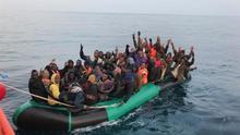 Imagen de archivo de la llegada de una embarcación a las Islas.