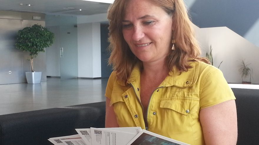 Marta Tabernero impulsa proyectos para dar a conocer la obra de jóvenes creadores.