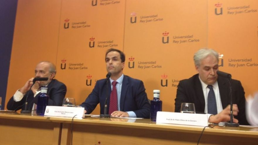 Comparecencia del rector de la Universidad Rey Juan Carlos