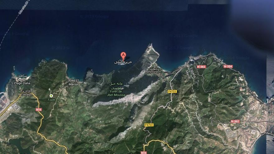 La Isla de Perejil en una captura de Google Maps.