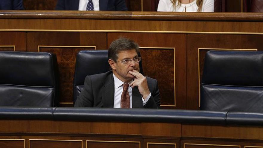 El Congreso reprueba a Catalá, Maza y Moix con el apoyo de toda la oposición