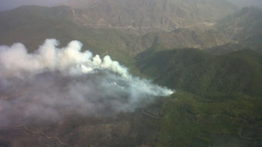 Incendio en La Gomera. (GOBIERNO DE CANARIAS)