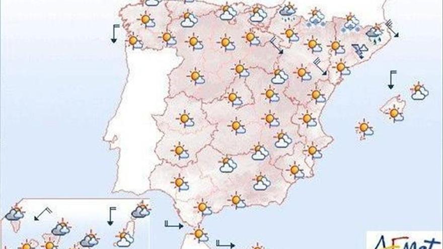 Lluvias en el Cantábrico y viento fuerte en el noroeste peninsular