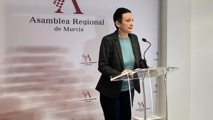 María Marín, portavoz de Podemos en la Asamblea Regional