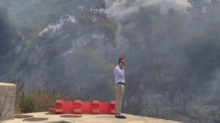 César Sánchez Presencia La Zona Afectada Por El Incendio Forestal