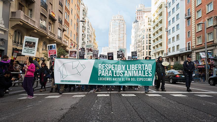 Manifestación antiespecista el pasado 4 de noviembre en Madrid.