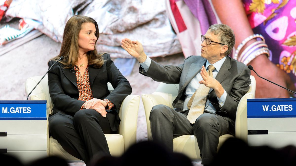 En la imagen, Melinda French Gates y Bill Gates. EFE/Jean Christophe Bott/Archivo