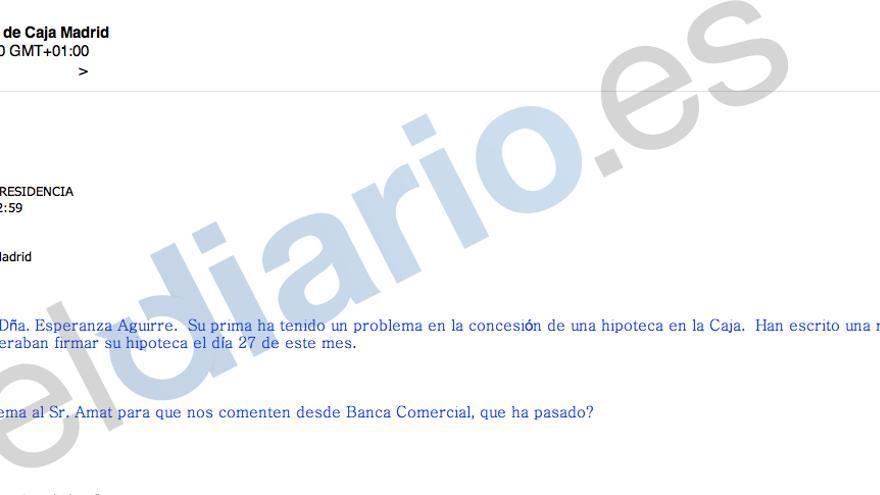 Blesa ordena a su secretaria que facilite las gestiones de la secretaria de Esperanza Aguirre