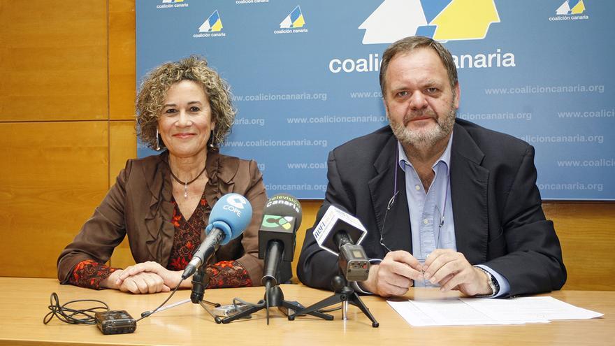 María del Mar Julios y Fernando Bañolas en la presentación de los candidatos de CC al Cabildo de Gran Canaria