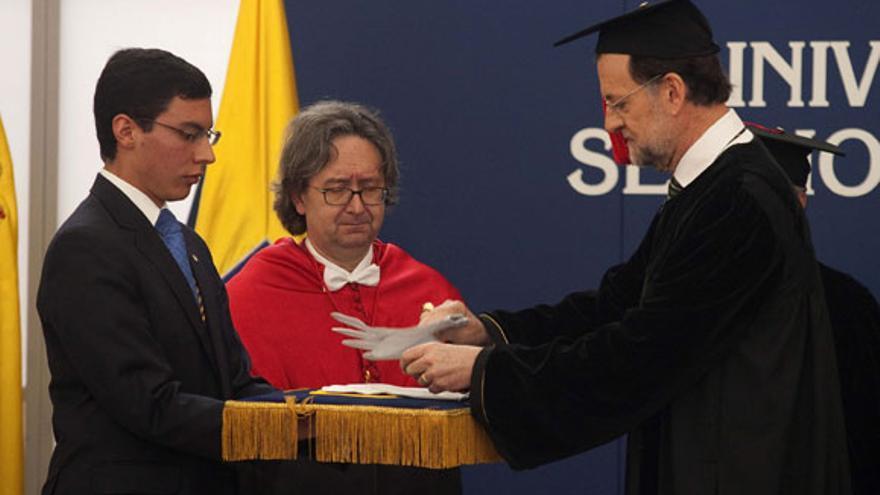 Rajoy, al ser ser investido Doctor 'Honoris Causa' en Bogotá (Colombia) / Moncloa
