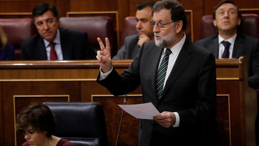 Mariano Rajoy, en una sesión de control en el Congreso.