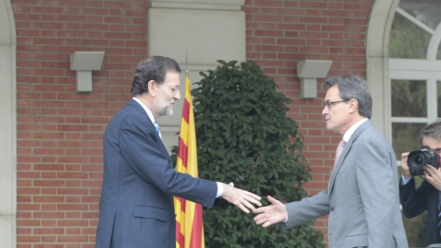 Termina la reunión entre Rajoy y Artur Mas en el Palacio de la Moncloa, que ha durado dos horas