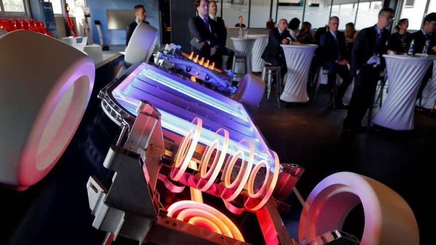 Prototipo de las baterías de un coche eléctrico.
