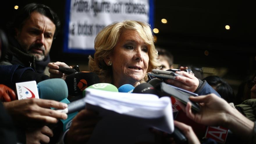 """Aguirre no dejará la Presidencia del PP de Madrid: """"Si ponen una gestora, no soy candidata. No soy un monigote"""""""