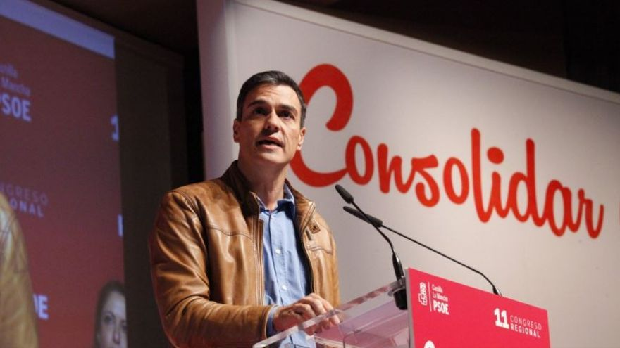 Pedro Sánchez en el XI Congreso del PSOE de Castilla-La Mancha