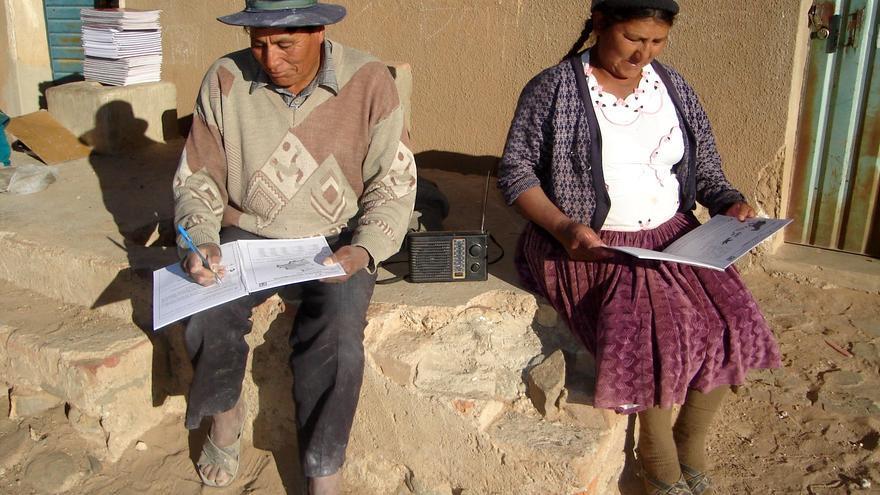 Participantes del proyecto de eduación a distancia de Betanzos, Bolivia.
