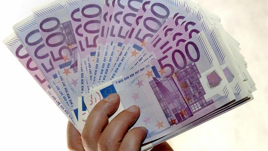 Los billetes de 500 euros caen en agosto a mínimos desde abril de 2004
