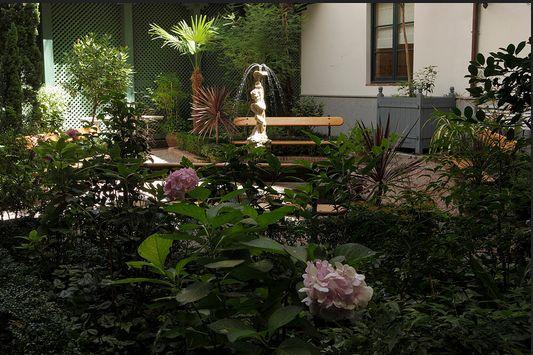 El jardín del museo