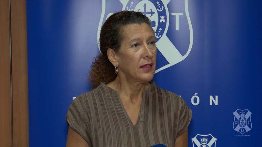 Milagros Luis Brito defiende el proceder de la Fundación Canaria del CD Tenerife