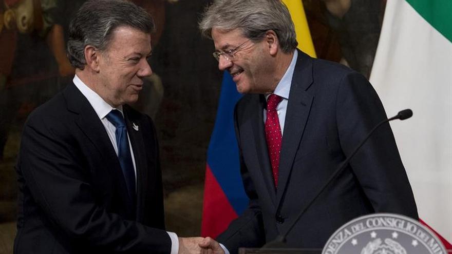 Santos preside la firma de acuerdos bilaterales con Italia contra el narcotráfico