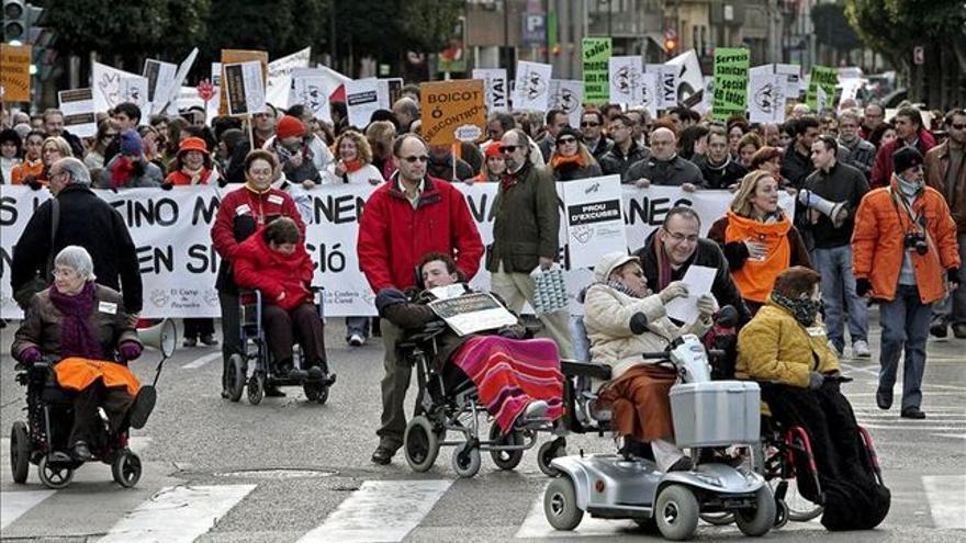 El sector de la discapacidad se ha movilizado en contra del copago