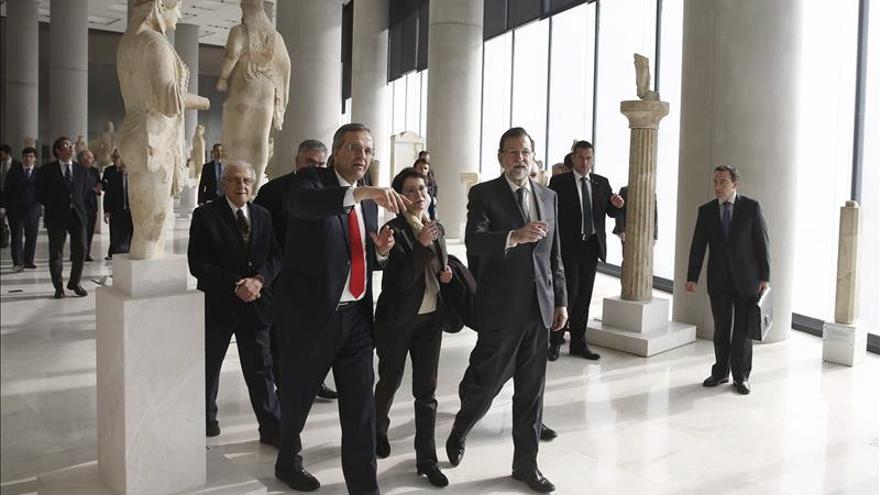 Rajoy visita junto a Samarás el Museo de la Acrópolis de Atenas