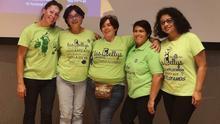 Ana (c), junto a otras compañeras de lucha del colectivo Las Kellys.