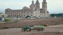 Obras en el Campus de la UCAM, en el Monasterio de los Jerónimos