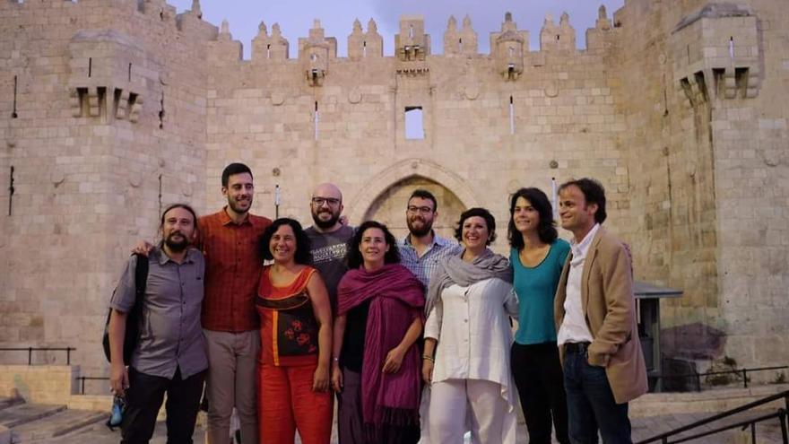 Delegación cargos públicos Palestina en el Valle de Jordán