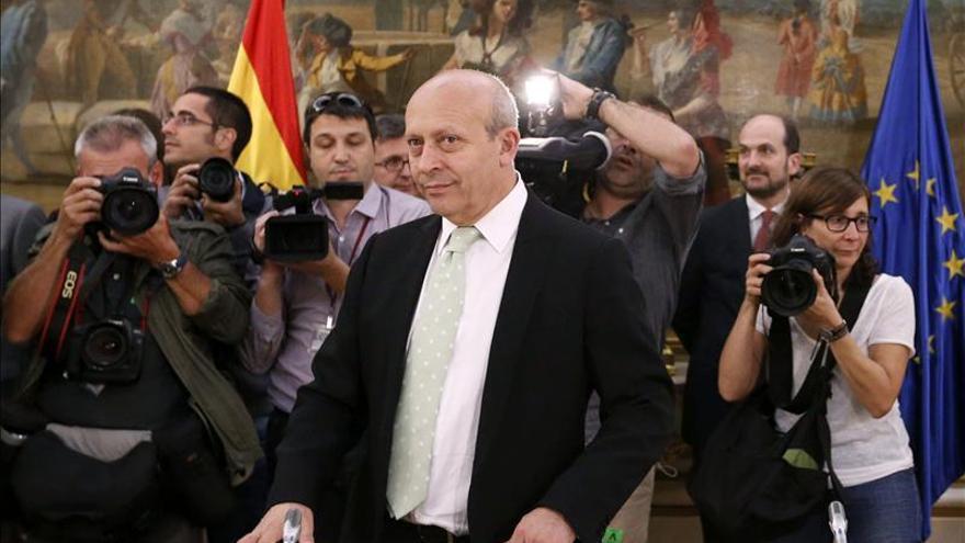 El ministro Wert en la rueda de prensa.