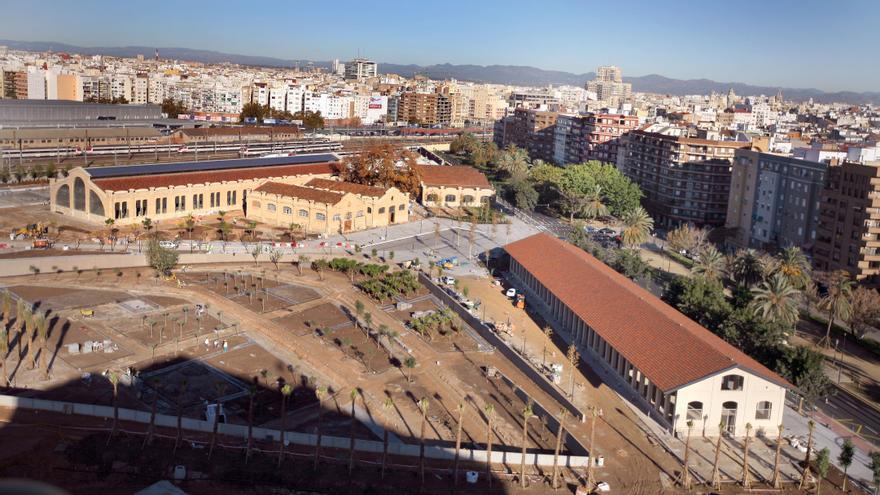 Vistas aéreas del Parque Central