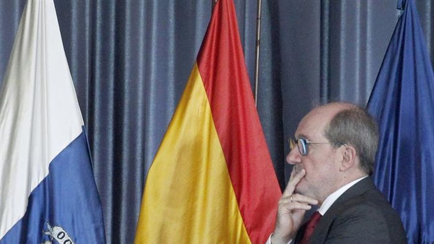 José Carlos Naranjo durante el acto de toma de posesión como administrador único del ente de Radiotelevisión Canaria.