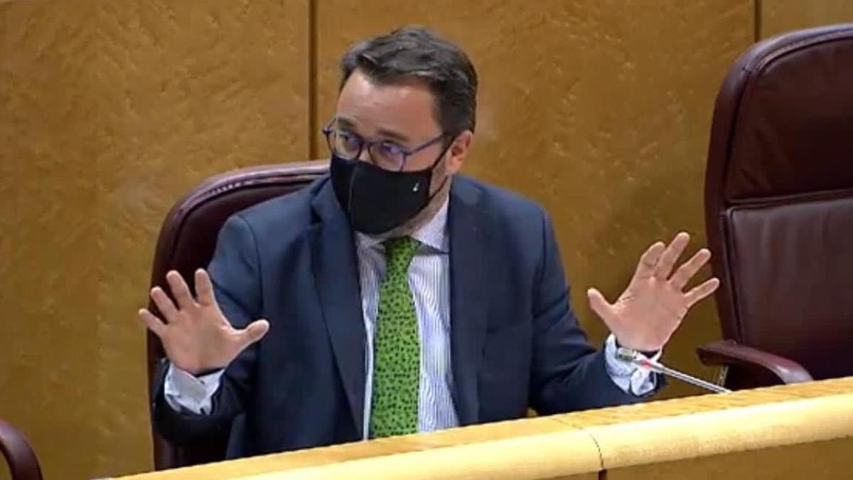 Asier Antona en el Senado.