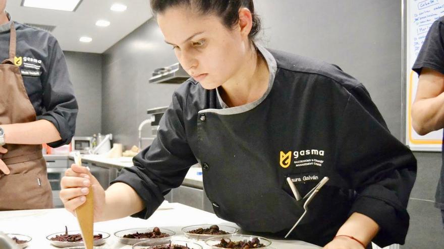 Laura Galván en el máster en Gastronomía y Management Culinario en Gasma.