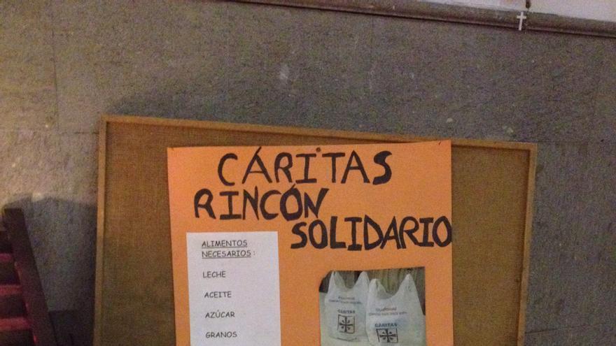'Rincón Solidario' en la iglesia de El Carmen