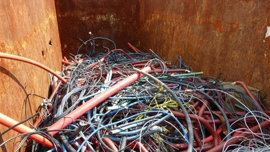 Residuos generados en los trabajos de mejora en la red de Canarias de Endesa.