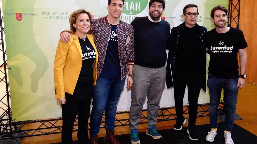 Fernando López Miras en la presentación del Plan de Juventud