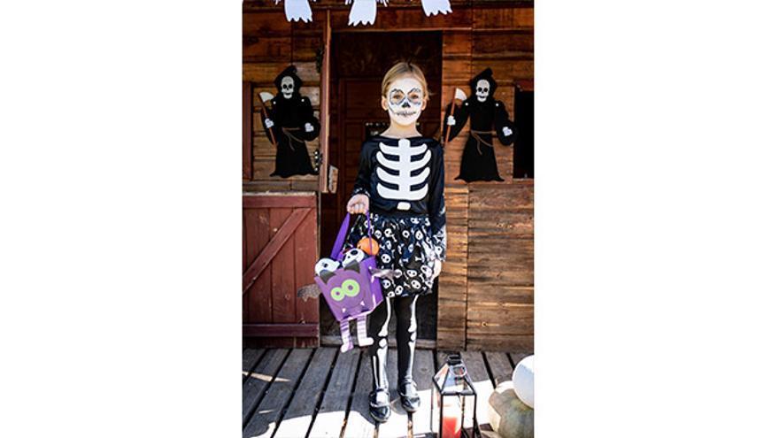 Disfraz esqueletita glow.