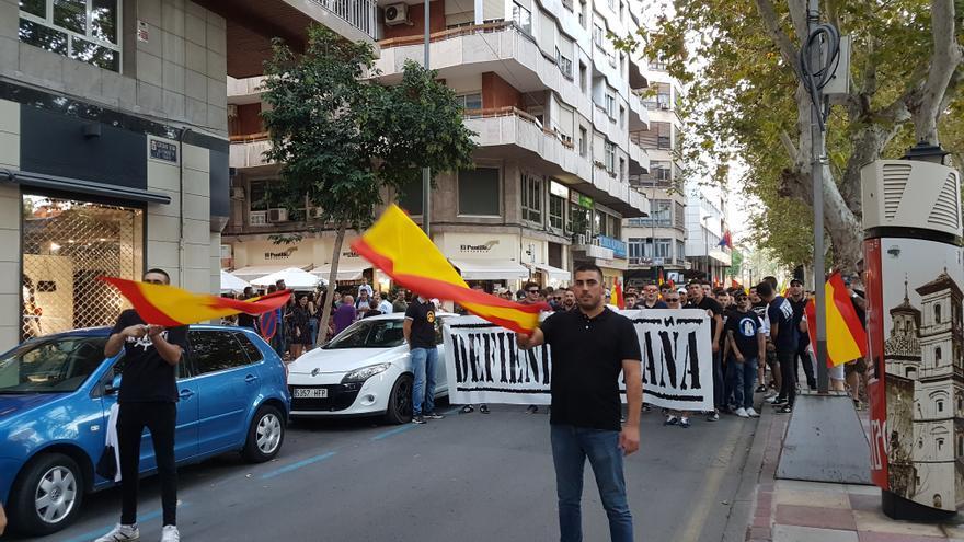 Manifestación del Día de la Hispanidad convocada por Lo Nuestro / E.R.