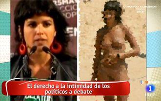 """RTVE pide """"perdón"""" a Teresa Rodríguez  y a la chica desnuda..."""
