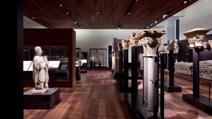 La sala del Museo Arqueológico Nacional donde estaban los frisos accidentados
