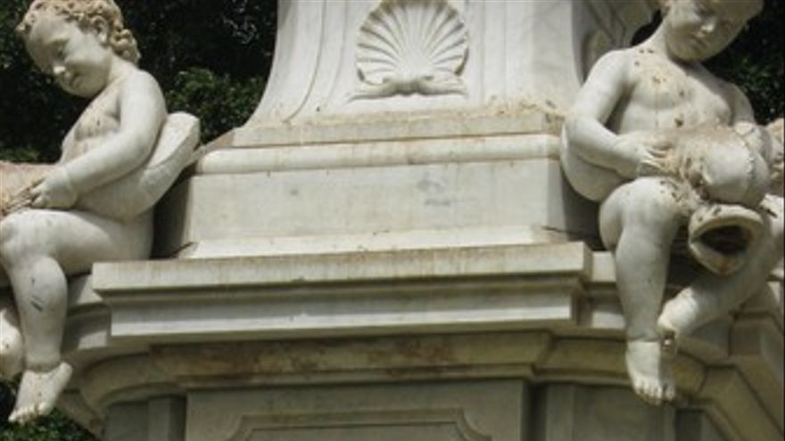 La fuente de la plaza de Weyler.
