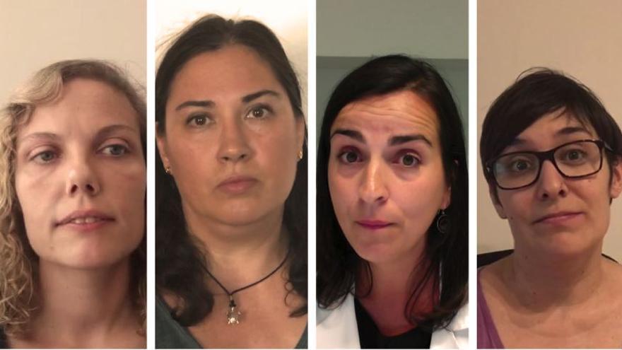 Las impulsoras de la campaña #oCientíficasoMadres: Diana, Ana Isabel, María y Carmen