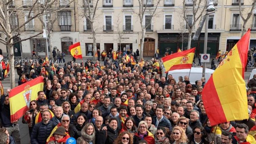 Delegación murciana en la manifestación de la plaza Colón en Madrid