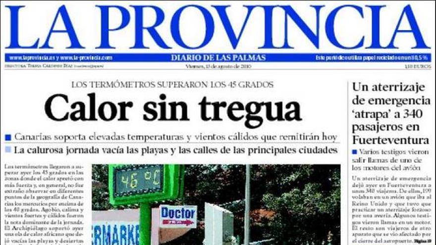 De las portadas del día (13/08/2010) #6