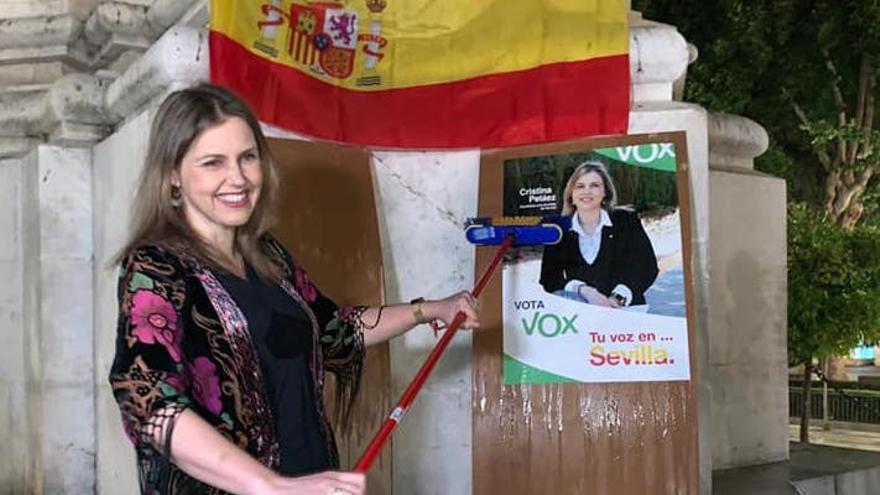 La candidato de Vox a la alcaldía de Sevilla, Cristina Peláez.